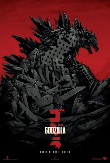 Comic Con poster for Godzilla directed by Gareth Edwards